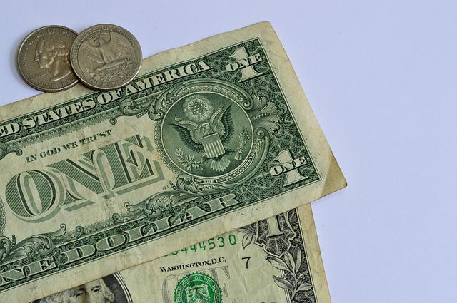 americké bankovky, mince
