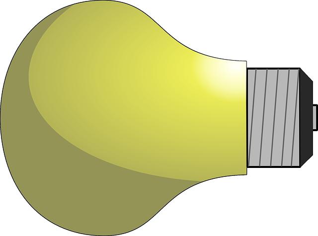 nakreslená žárovka