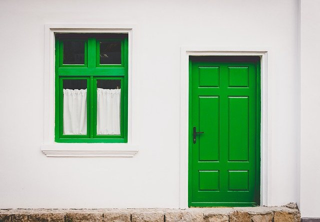 zelené dveře